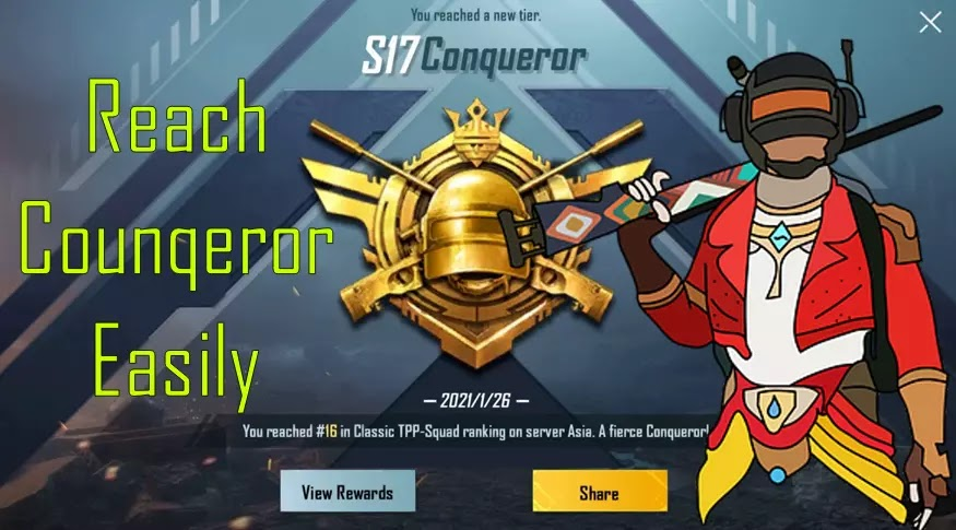 How much Points Required for Conqueror in PUBG Mobile