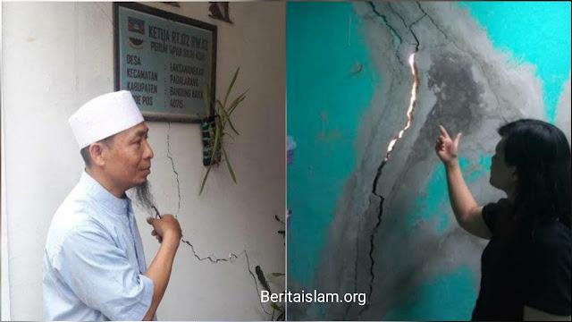 Gunung di Cimahi Dibom untuk Proyek Kereta Cepat Indonesia China, Ratusan Rumah Warga Retak