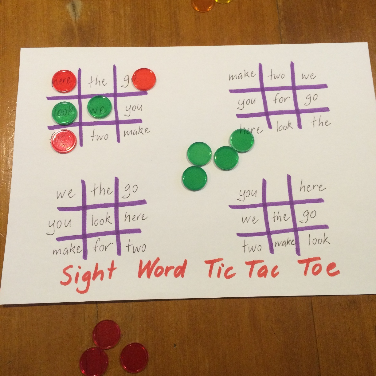 Fun Games 4 Learning Sight Word Games