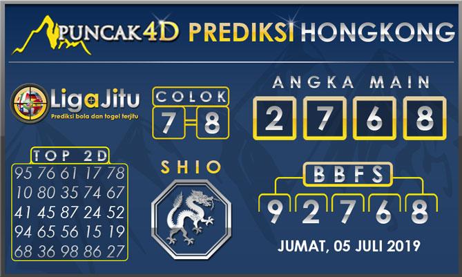 PREDIKSI TOGEL HONGKONG PUNCAK4D 05 JULI 2019