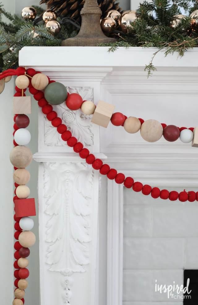 DIY – Ghirlanda di Natale fai da te con perle di legno