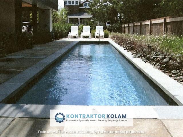 desain kolam renang lap pool Pematangsiantar