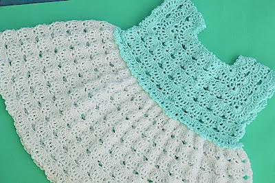 5 - Crochet Imagen Falda a crochet y ganchillo canesú rosa por Majovel Crochet