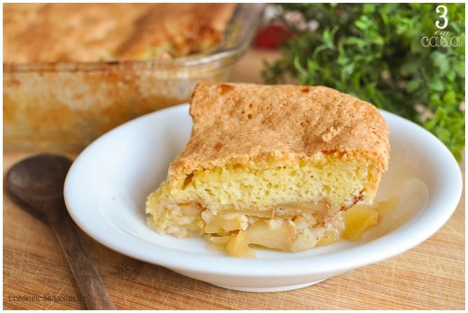 bolo de maçã rápido receita