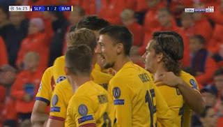 اهداف مباراة برشلونة وسلافيا براج (2-1) دوري ابطال اوروبا