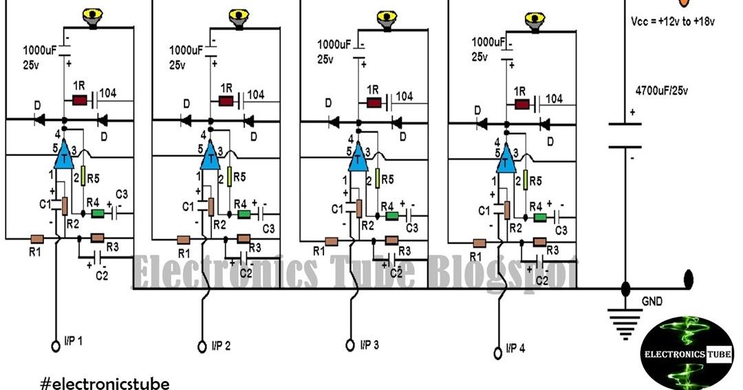 Homemade 4 1 Amplifier Circuit Diagram Using Tda2030    Lm358   Mje3055   Mje2955