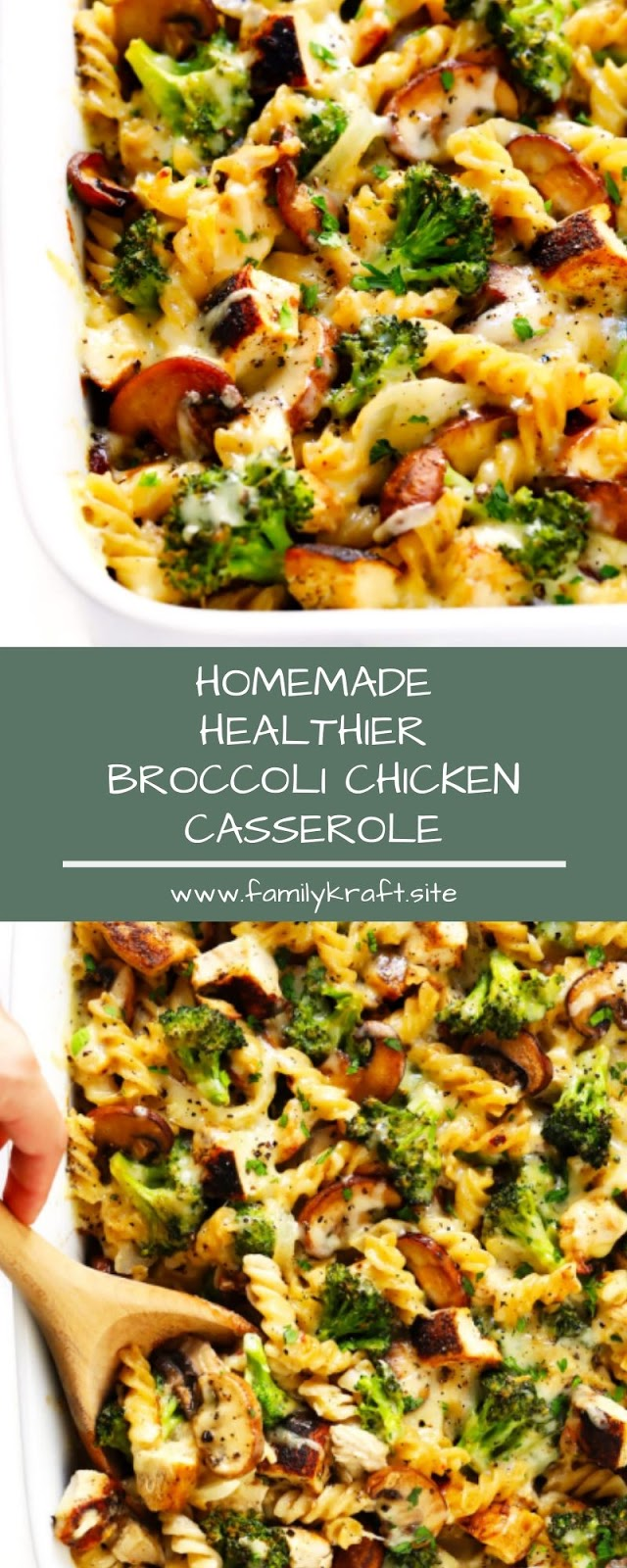 HOMEMADE HEALTHIER BROCCOLI CHICKEN CASSEROLE