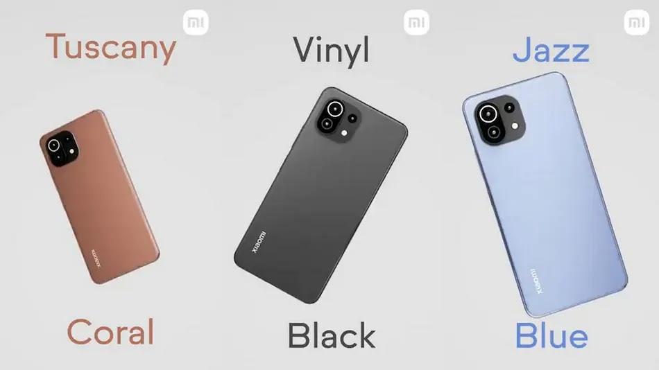 Xiaomi Mi 11 Lite Colors
