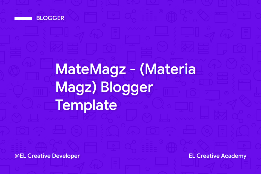 MateMagz Material Design Lightweight Blogger Template