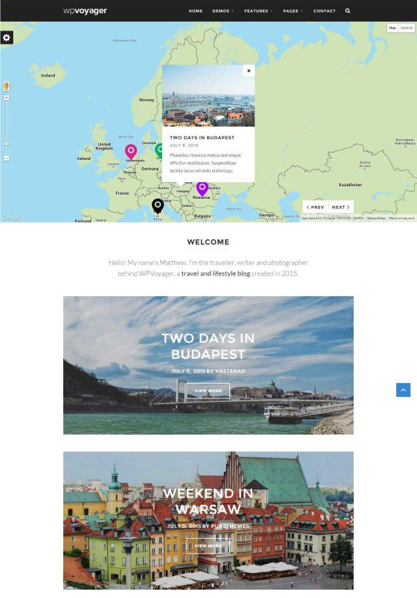 wordpress theme for travel blog