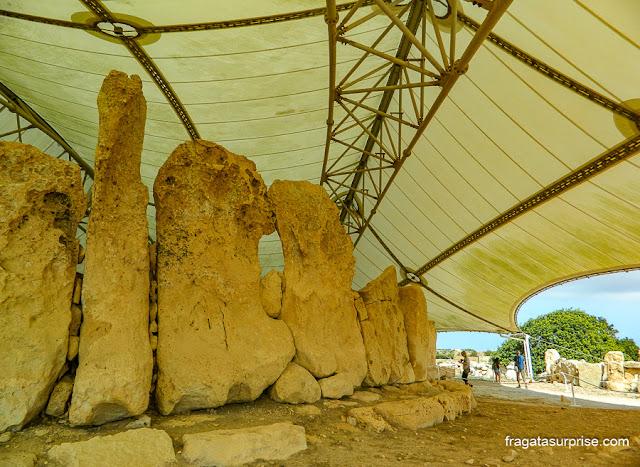 Grande menir do Templo de Hagar Qim, Malta
