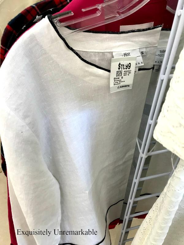 Overpriced Thrift Store Shirt on a hanger