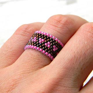 купить кольцо ручной работы украшение из бисера россия симферополь