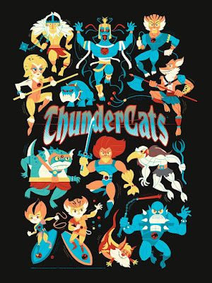 ThunderCats Screen Print by Dave Perillo x Bottleneck Gallery