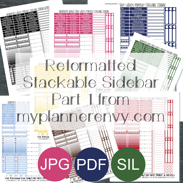 Free Printable Reformatted Monthly/Weekly Stackable Sidebar Part 1 from myplannerenvy.com