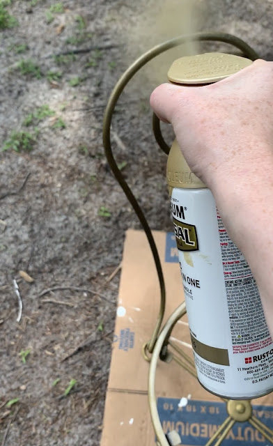 Rustoleum Sunlit Brass Spray Paint