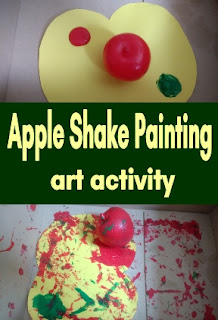 Apple Shake Painting art activity