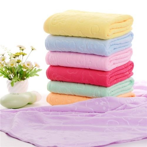 Baby Microfiber bath towel quick-drying towels embossed bear bath towel
