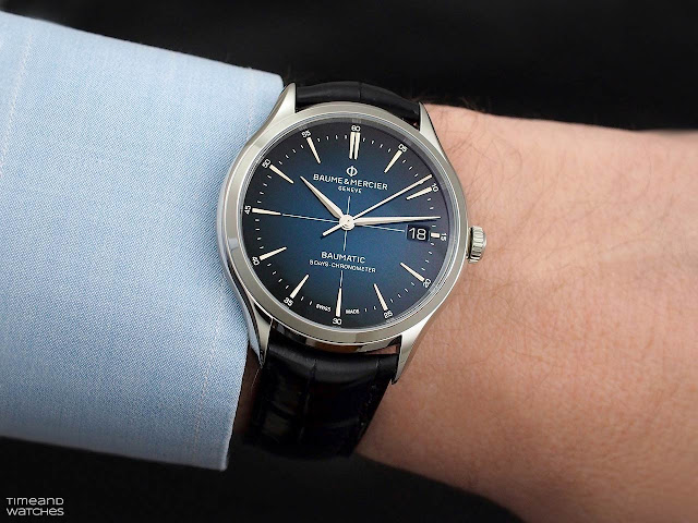 Baume et Mercier Clifton Baumatic Blue Dial ref. 10467