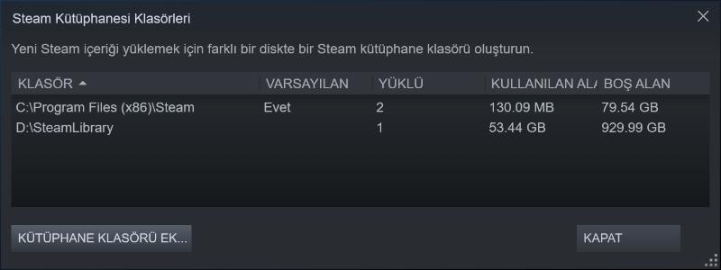 Steam'de Yüklü Oyunu Bir Diskten Başka Bir Diske Taşıma