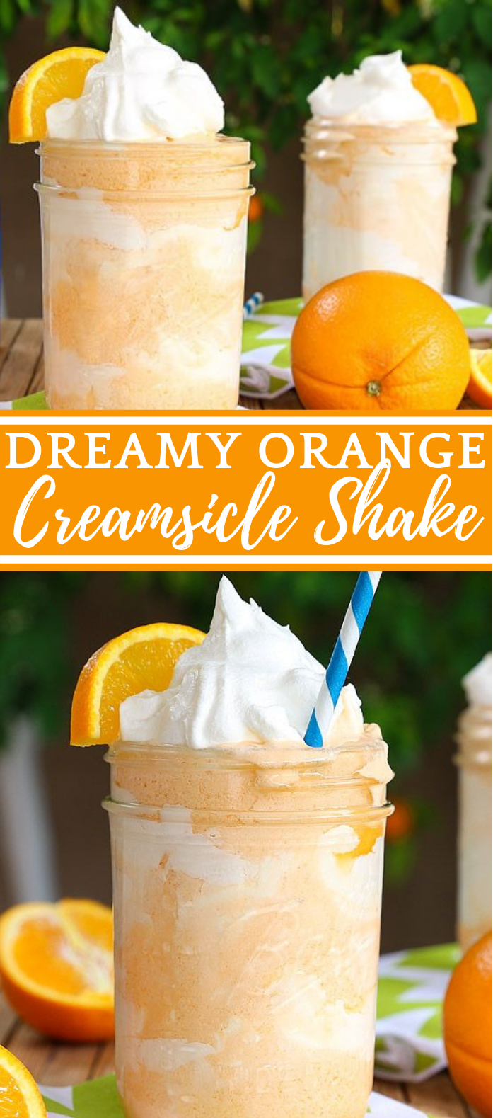 Dreamy Orange Creamsicle Shake #drink #smoothie