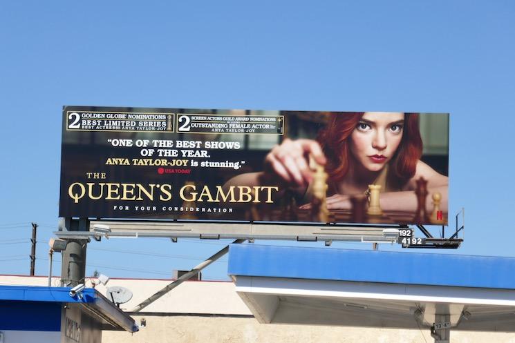 Queens Gambit SAG Award nominee billboard