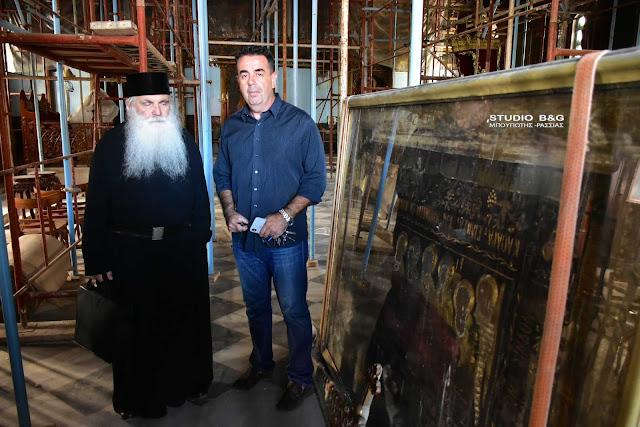 Ξεκίνησαν εργασίες συντήρησης στον Άγιο Νικόλαο Ναυπλίου (βίντεο)