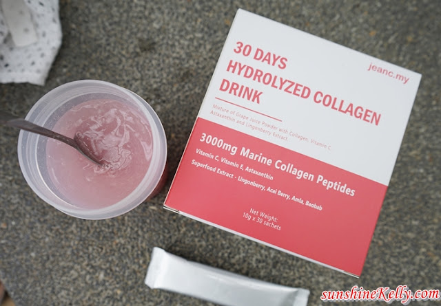 30 Days Skin Challenge, Collagen Drink Malaysia, Astaxanthin Malaysia, JeanC 30 Days Hydrolyzed Collagen Drink, Beauty, Collagen Drink, Beauty Review