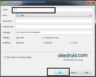 Create New Class Android Studio
