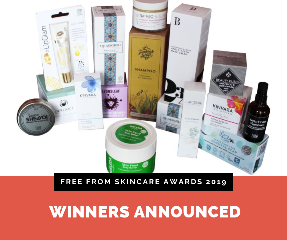 Winners announced in Free From Skincare Awards 2019