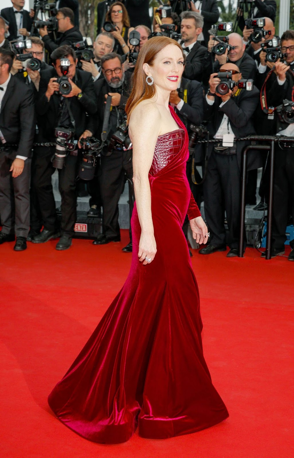 HQ Photos of Julianne Moore in Red Hot Dress Mad Max Fury Road Premiere 2015 Cannes Film Festival