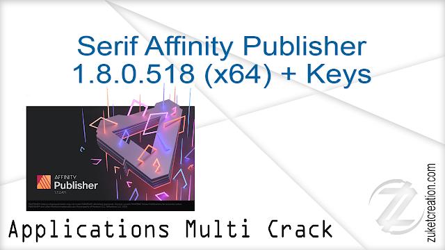 Serif Affinity Publisher 1.8.0.518 (x64) + Keys