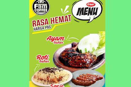 Contoh Banner Promosi Ayam Bakar