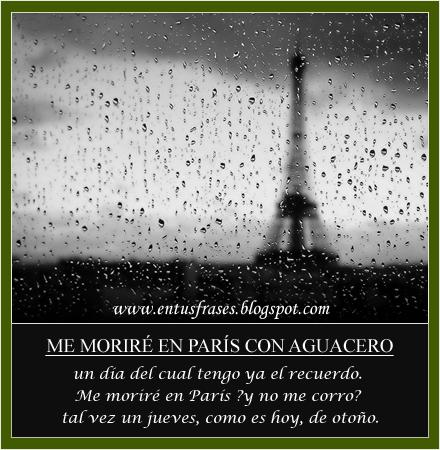Frases Entusfrases Me Moriré En París