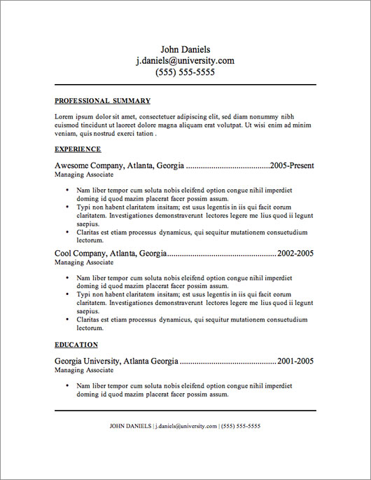 free resume template the only one you ll ever need dadakan