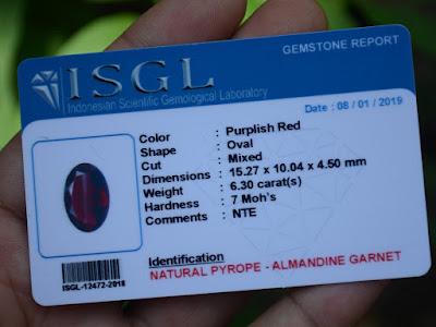 Garnet certificate