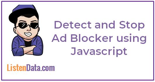 Detect AdBlocker using Javascript