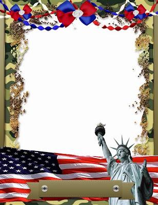Marco para fotos del 4 de julio u otra celebración norteamericana