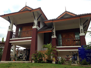 แบบบ้านทรงไทยประยุกต์ชั้นครึ่งเล่นระดับ