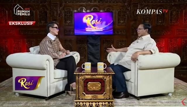 Presenter Rosi Ditolak jadi Moderator Debat Pilpres, karena Dekat dengan Prabowo?