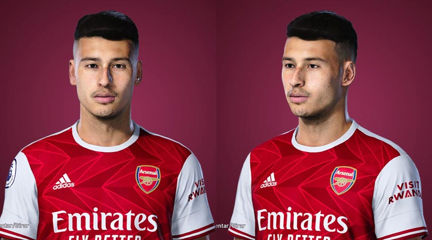 Gabriel Martinelli Face For eFootball PES 2021