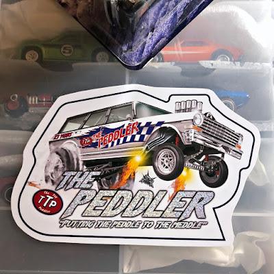 Nuclear Mindz Design The Toy Peddler 23 Year Anniversary Custom '64 Wagon Gasser nova ttp sticker