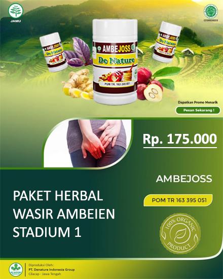 Paket Herbal Wasir Ambeien Stadium 1