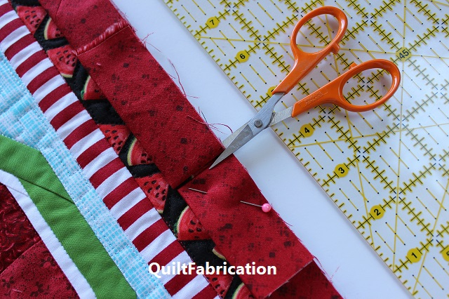 joining quilt binding-trim at the fold