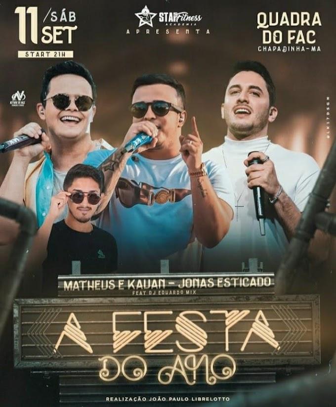 Primeiro show do ano em Chapadinha-Ma com Matheus e Cauan em 11 de setembro de 2021.