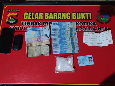 Edarkan Narkoba di NTB, Pria Asal Aceh Dibekuk di Praya