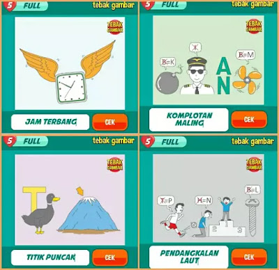 Jawaban tebak gambar level 50 nomor 13-16