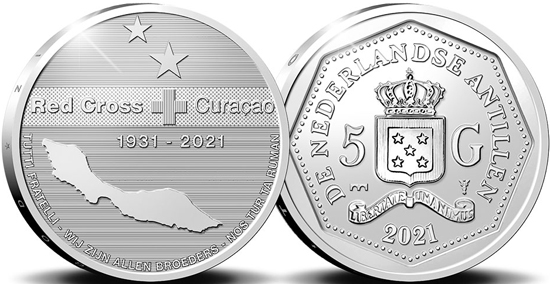 Netherlands Antilles 5 gulden 2021 - 90th anniversary of the Red Cross Curaçao