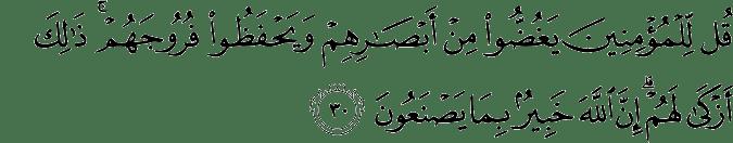 Surat An Nur ayat 30