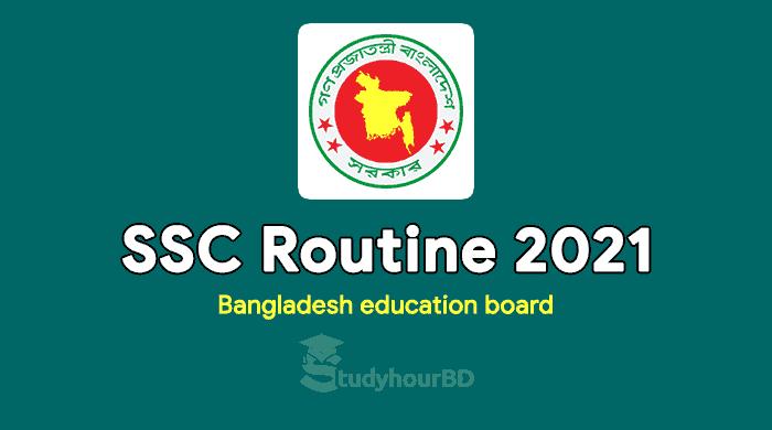 SSC Routine 2021 PDF Download